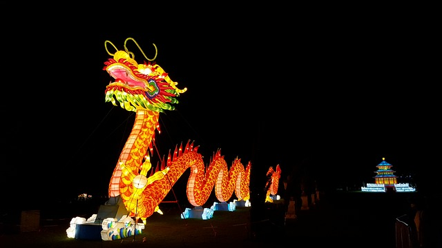 Chinese dragon on festival
