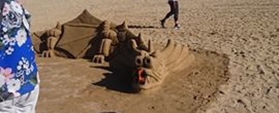 Sand dragon from the front