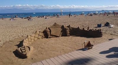 The sand dragon from the side